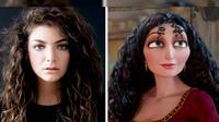 Penyanyi asal Selandia Baru, Lorde dan Karakter Mother Gothel dalam film Tangled (sumber: EMGM)