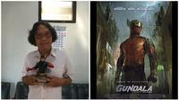 Potret Pak Hasmi dan Poster Film Gundala (Sumber: Brilio dan Instagram/gundalaofficial)