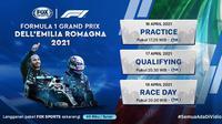 Streaming F1 2021 GP Emilia Romagna Pekan Ini di Fox Sports Eksklusif Melalui Vidio. (Sumber : dok. vidio.com)