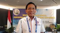 Imam Sudjarwo kembali terpilih sebagai Ketua Umum Pengurus Pusat (PP) Persatuan Bola Voli Seluruh Indonesia (PBVSI) periode 2018-2022, Sabtu (15/9/2018). (Bola.com/Zaidan Nazarul)