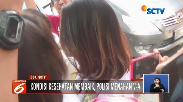 Setelah kondisi kesehatannya dipastikan membaik, artis VA kini resmi ditahan di rutan Polda Jatim.