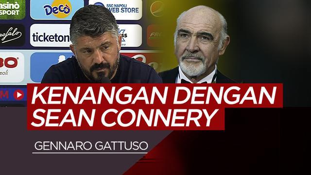 Gennaro Gattuso dan Sean Connery. (Bola.com/Dody Iryawan)