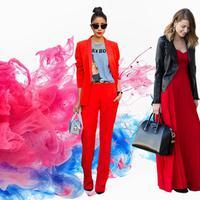 Trend warna merah yang patut Anda coba di setiap kesempatan. (Image: Pinterest. DI: Nurman Abdul Hakim)