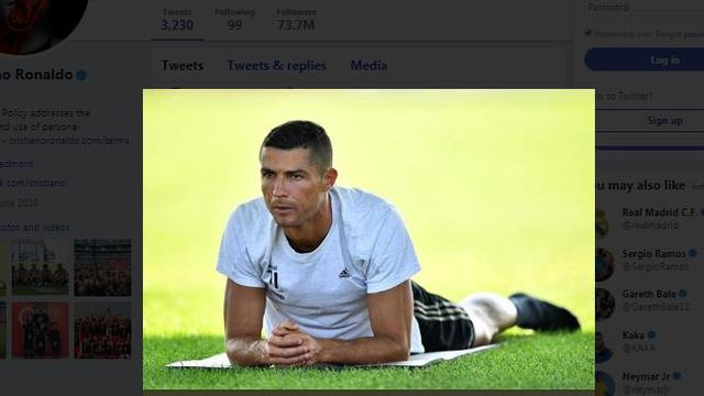 Cristiano Ronaldo latihan perdana bersama Juventus