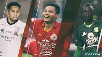 Trivia - Pemain Makan Konate, Andik Vermansah, Evan Dimas (Bola.com/Adreanus Titus)