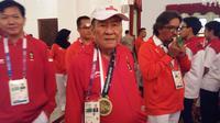 Atlet cabang olahraga bridge Bambang Hartono di Istana Negara, Jakarta (Liputan6.com/ Hanz Jimenez Salim)
