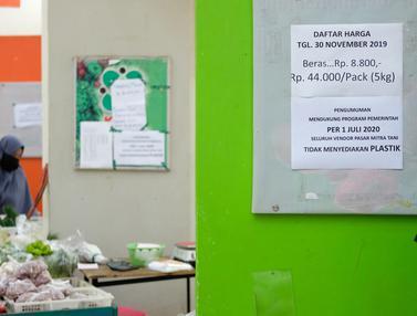 Pasar Mitra Tani Stop Penggunaan Kantong Plastik