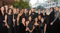 Aktris dan aktivis berpakaian serba hitam di Golden Globes 2018 (Instagram @timesupnow)