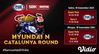 Link Live Streaming WSBK Superbike Catalunya 2021 di Vidio Pekan Ini, 18 dan 19 September 2021