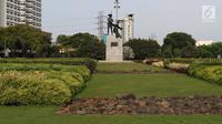 ondisi kawasan Taman Tugu Tani, Jakarta, Rabu (9/1). Taman Tugu Tani masuk dalam rencana revitalisasi lima taman yang ada di Jakarta pada tahun ini. (Liputan6.com/Helmi Fithriansyah)