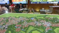 Site plan pembangunan perumahan dalam Indonesia Property Expo (IPEX) 2019 di JCC,  Sabtu (2/2). Ada 167 pengembang terlibat dalam IPEX ini yang terdiri dari 116 pengembang KPR non subsidi dan 51 pengembang subsidi. (Liputan6.com/Angga Yuniar)