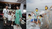 Judika dan Duma Riris ajak anak liburan ke Bali. (Instagram/@duma_riris/@jud1ka)