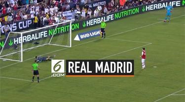 Real Madrid berhasil mengalahkan Arsenal dalam laga ICC 2019 di Amerika Serikat. El Real berhasil menang melalui drama adu penalti.