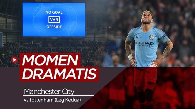 Berita video momen-momen yang terjadi pada laga Manchester City menghadapi Tottenham Hotspur di leg kedua perempat final Liga Champions.