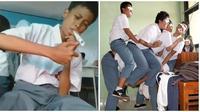 Kelakuan Absurd Siswa Saat Jam Istirahat Ini Bikin Kangen Sekolah (sumber:Instagram/memekeras_)