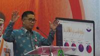 Direktur Jenderal (Dirjen) Otda Kemendagri Akmal Malik dalam acara Launching e-Perda Kabupaten/Kota se-Provinsi Maluku Utara di Ternate, Kamis (10/6/2021).