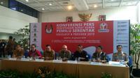 KPU bersama Bawaslu dan DKPP melakukan peninjauan langsung Percetakan Surat Suara Pemilu 2019. (Merdeka.com)