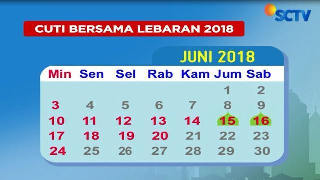 Keputusan penambahan cuti bersama pada lebaran 2018, telah disepakati dalam surat keputusan bersama oleh tiga Kementerian.
