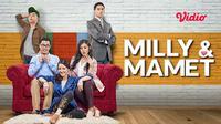 Film Milly dan Mamet kini dapat ditonton di platform streaming Vidio. (Sumber: Vidio)