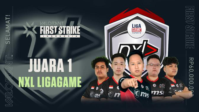 NXL Ligagame juarai Valorant First Strike: Indonesia. (Doc: Riot Games)