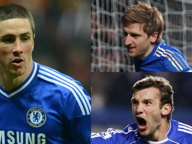Chelsea ialah satu dari sekian klub yang disegani di Premier League. Torehan prestasi berhasil dicatatkan skuat Roman Abramovic. Namun diantara skuat yang tangguh terdapat pemain yang gagal bersinar bersama the Blues. (Kolase Foto AFP)