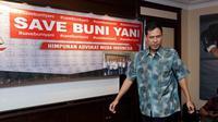 Munarman di acara preskon Buni Yani. (Deki Prayoga/Bintang.com)