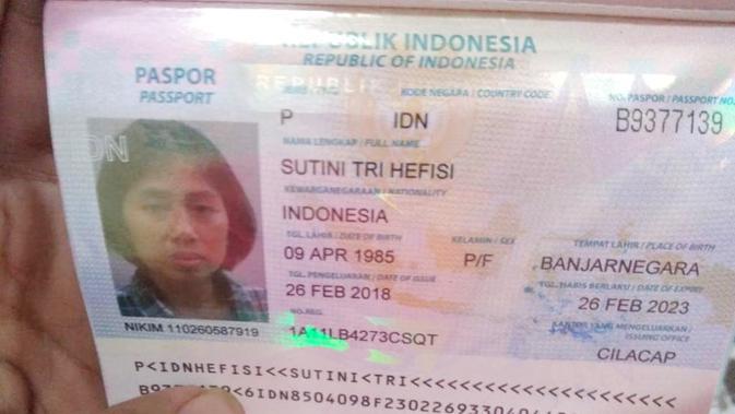 Sutini, pekerja migran asal Banjarnegara yang dipulangkan dalam keadaan sakit ketika dirawat di rumah sakit meninggal dunia 4 Desember 2018. (Foto: Liputan6.com/LBH Sikap/Muhamad Ridlo)