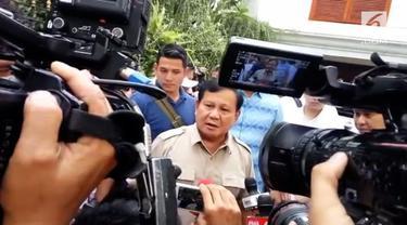Prabowo Subianto mengatakan dirinya akan menghadiri acara pengambilan nomor urut pasangan capres capwapres dalam Pilpres 2019 di KPU.