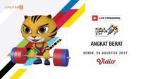 Banner Livestreaming Angkat Berat sea games 2017