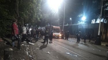 Situasi di Jalan Tentara Pelayar usai demo, Senin (30/9/2019)