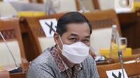 Mendag Muhammad Lutfi hadir pada rapat kerja di ruang rapat Komisi VI DPR RI, kompleks parlemen, Jakarta, Rabu (3/2/2021). Rapat kerja ini membahas realisasi anggaran tahun 2020, rencana kegiatan dan anggaran sesuai daftar isian pelaksanaan anggaranTahun 2021. (Liputan6.com/Angga Yuniar)