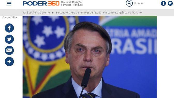 Gambar Tangkapan Layar Berita Tentang Presiden Brasil Jair Bolsonaro