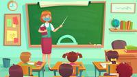 Banner Infografis Tahun Ajaran Baru, Sekolah di Zona Hijau Dibuka Kembali. (Liputan6.com/Trieyasni)