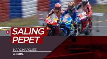 Berita video insiden pembalap Repsol Honda, Marc Marquez, dengan rider Suzuki Ecstar,  Alex Rins, yang saling pepet di Kualifikasi MotoGP Republik Ceska, Sabtu (4/8/2019).