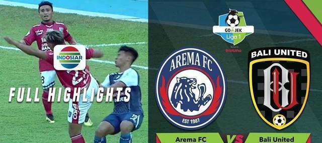 Arema FC berhasil meraih kemenangan 3-1 kala menghadapi Bali United laga pekan ke-26 Go-Jek Liga 1 bersama Bukalapak di Stadion Kanjuruhan, Sabtu (20/10/2018) sore WIB.