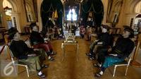 Suasana di salah satu ruang Istana Siak Sri Indrapura, Riau, Kamis (21/7). Istana Siak Sri Indrapura adalah istana peninggalan Kesultanan Siak yang merupakan kerajaan Islam terbesar di Riau.(Liputan6.com/Faizal Fanani)