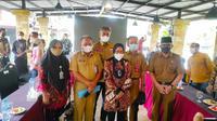 Menteri Sosial Tri Rismaharini saat berkunjung ke Kota Pekanbaru, Riau. (Liputan6.com/M Syukur)