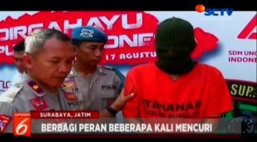 Sepasang kekasih diamankan oleh polres Surabaya karena kedapatan mencuri laptop dan 2 handphone di sebuah rumah kontrakan jalan keputih, Surabaya.
