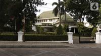 Suasana Rumah Dinas Gubernur DKI Jakarta di kawasan Taman Suropati, Jakarta, Senin (7/10/2019). Nominal usulan anggaran tersebut sudah tercatat dalam draf pembahasan Kebijakan Umum Anggaran-Prioritas Plafon Anggaran Sementara (KUA-PPAS) 2020. (Liputan6.com/Herman Zakharia)