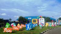 Komplek JSC Palembang yang akan jadi tempat perhelatan Asian Games 2018 (Liputan6.com / Nefri Inge)