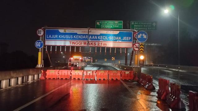 Penutupan Tol Jakarta-Cikampek II Elevated, Kamis (6/5/2021) dini hari