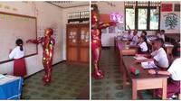 Iron Man Jadi Guru dan Mengajar Di SD (Sumber: Twitter/@AlamiSadHomie)