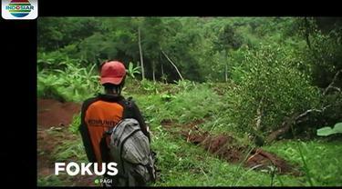Beruntung tidak ada korban jiwa dalam kejadian ini karena masih ada perkebunan yang menghalangi permukiman warga dari timbunan tanah longsor.