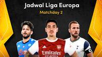 Jadwal pertandingan Liga Europa matchday 2 di Vidio. (Sumber: Vidio)