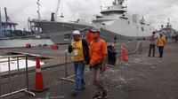 Syarif Rafiq (49) Saat Datangi Posko JICT II, Pelabuhan Tanjung Priok, Jakarta Utara.