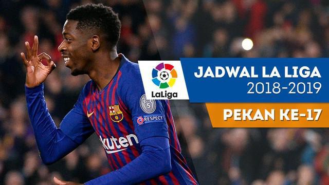 Berita video jadwal La Liga 2018-2019 pekan ke-17. Barcelona menjamu Celta Vigo, Minggu (23/12/2018) di Camp Nou, Barcelona.