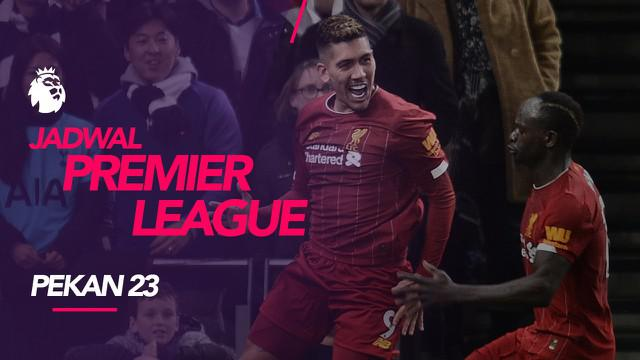 Berita video jadwal Premier League pekan ke-23. Big match Liverpool vs Manchester United, Minggu (19/1/2020) di Allianz Stadium, Liverpool.