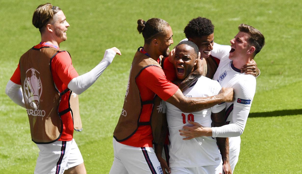 Timnas Inggris meraih kemenangan 1-0 atas Kroasia pada laga pertama Grup D Euro 2020 di Stadion Wembley, Minggu (13/6/2021). (AP Photo/Justin Tallis, Pool)