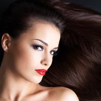 Ilustrasi rambut indah dan sehat.