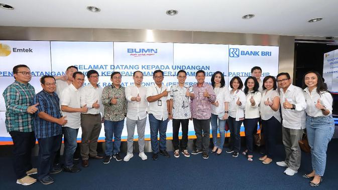 EMTK BBRI BRI Gandeng Emtek Grup Perkuat Layanan Digital - Bisnis Liputan6.com